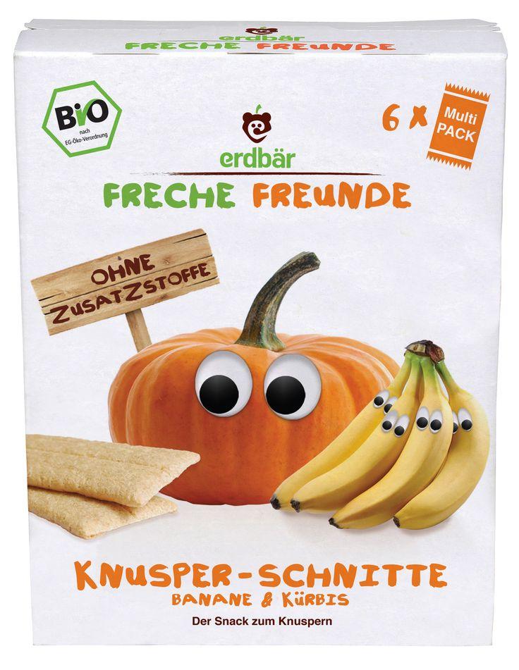 Die knusprigen Schnitten mit Obst & Gemüse. Mit Katharina Kürbis & Bob Banane knackt es jetzt so richtig laut! Die fruchtig-gemüsige Knusper-Schnitte der Frechen Freunde ist leicht zu kauen & auch für kleine Zähnchen geeignet. Praktisch & leicht zu portionieren. 6*3er Pack.