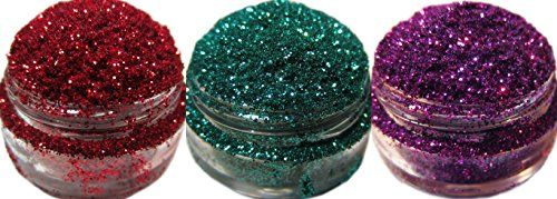 Lumikki Cosmetics Trio Set of 3 Glitters For Eyeshadow  Eye Shadow  Eyes  Face  Lips  Nails Makeup  Compare to NYX  Shimmer Makeup Powder  Holographic Cosmetic Loose Glitter Trio 9 >>> Check out the image by visiting the link.