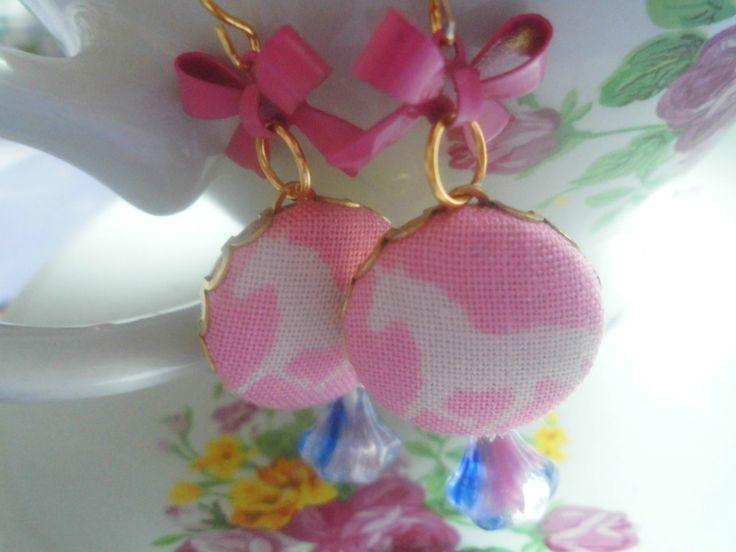Cute horse earrings,   *Pretty* Ohrringe Pferd Pink von Happy Lilly auf DaWanda.com