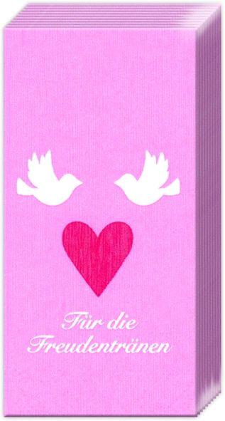 Motivservietten-Freudentränen - Taschentücher
