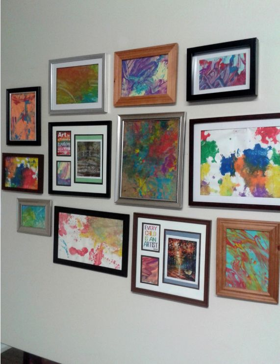 North Grenville Cooperative Preschool and Learning Centre- A unique way of arranging artwork in frames in this infant program offers an aesthetically pleasing focal point for infants, families and educators alike.