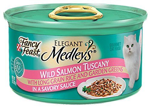 Fancy Feast Elegant Medleys - Wild Salmon Tuscany - 24 x 3 oz -- Details can be found by clicking on the image. (This is an affiliate link) #CatFood