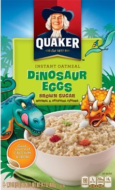 Quaker Instant Oatmeal - Dinosaur Eggs {The perfect breakfast for a dinosaur crazed little boy!  Brett will eat an entire bowl and ask for more!}