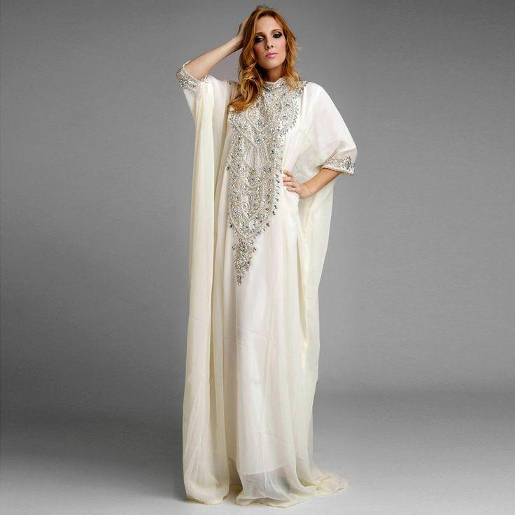 Купить товарАбая в дубае белый шифон кристалл вышивка бисером арабский платье марокканский кафтан арабский кафтан кафтан длинная вечернее платье в категории Вечерние платьяна AliExpress. Абая в дубае белый шифон кристалл вышивка бисером арабский платье марокканский кафтан арабский кафтан кафтан длинная вечернее платье