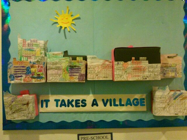 17 Best Images About From Boxes To A Village Preschool On