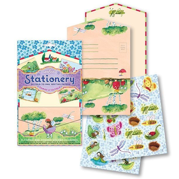Kids Stationery Fold-to-Mail Writing Paper Sets - Fairies