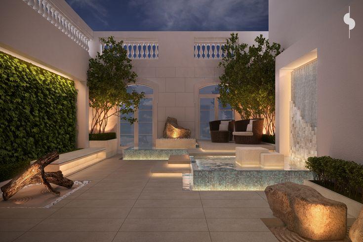 Roof garden private villa 375 m plot kuwait sarah sadeq for Garden design kuwait