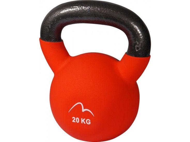 More Mile Neoprene 20kg Kettlebell - Red