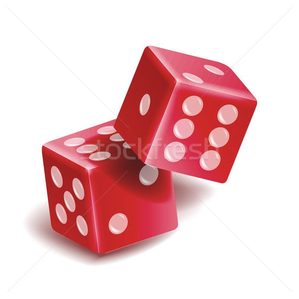 Playing Dice Vector Set. Realistic 3D Illustration Of Two Red Dice With Shadow. Game Dice Set stock photo (c) pikepicture (#8403627) | Stockfresh