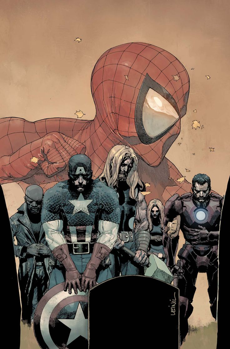 The Ultimates Mourn Peter Parker's Death - Leinil Francis Yu