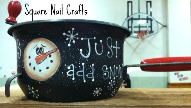 Snowflake maker. Just add snow! www.facebook.com/squarenailcrafts