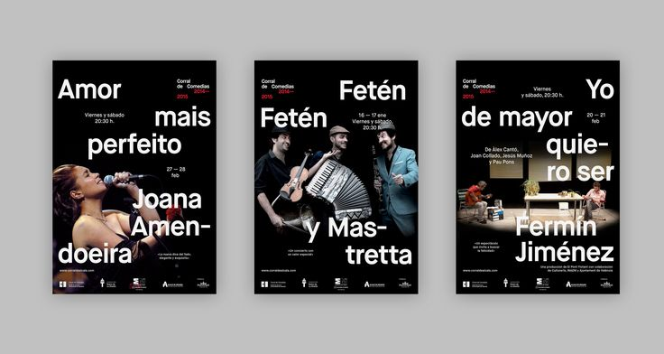 Teatro de La Abadía – Posters 2014-2015 on Behance