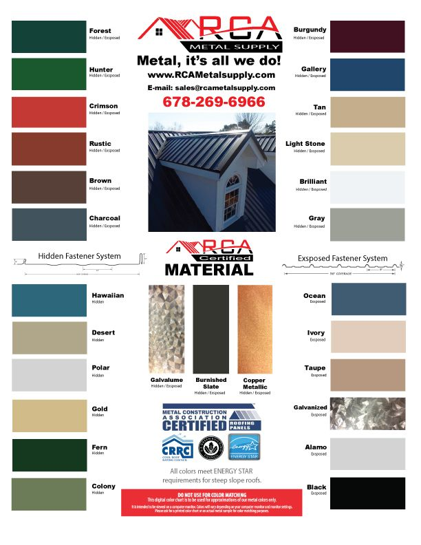 RCA Metal Supply is revolutionizing sustainable metal roofing sell,  service, and installation for the residential, commercial and agricultural  metal roofing industry in Atlanta Georgia.