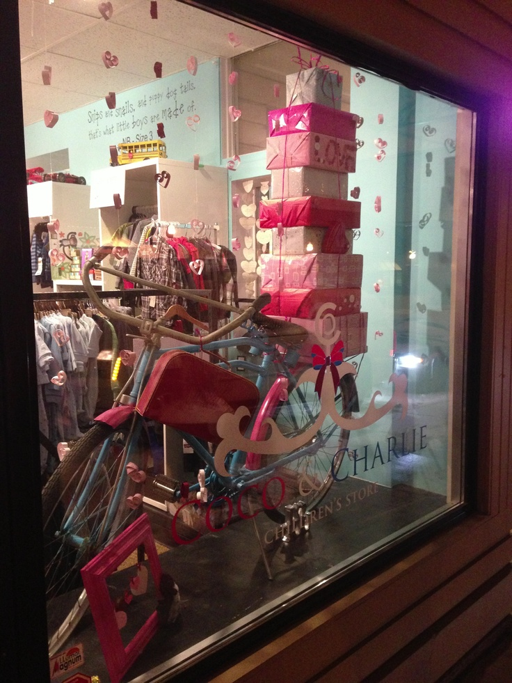 valentine day window displays