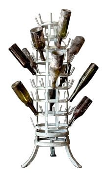 wine bottle drying rack -really cool, but why unless you are making your own wine and reusing bottles, I guess.