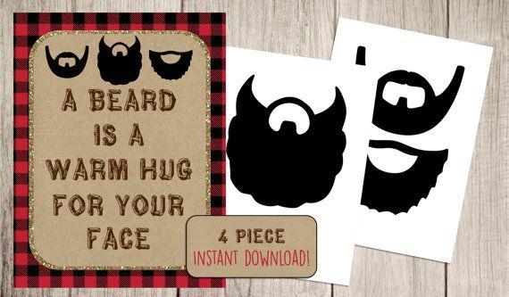 Lumberjack Beard Sign to look like Nicolas beard