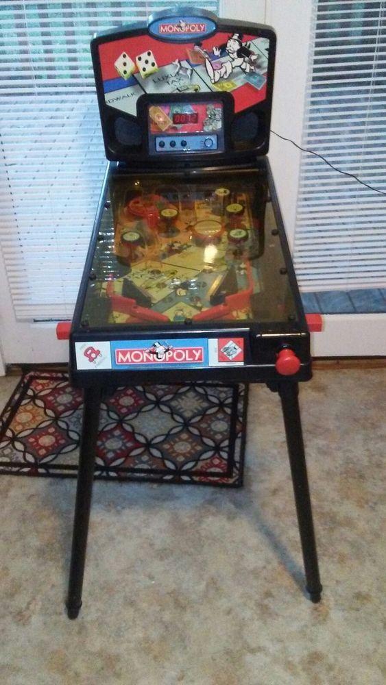 2000 HASBRO TABLETOP MONOPOLY PINBALL MACHINE LEGS VINTAGE GAME
