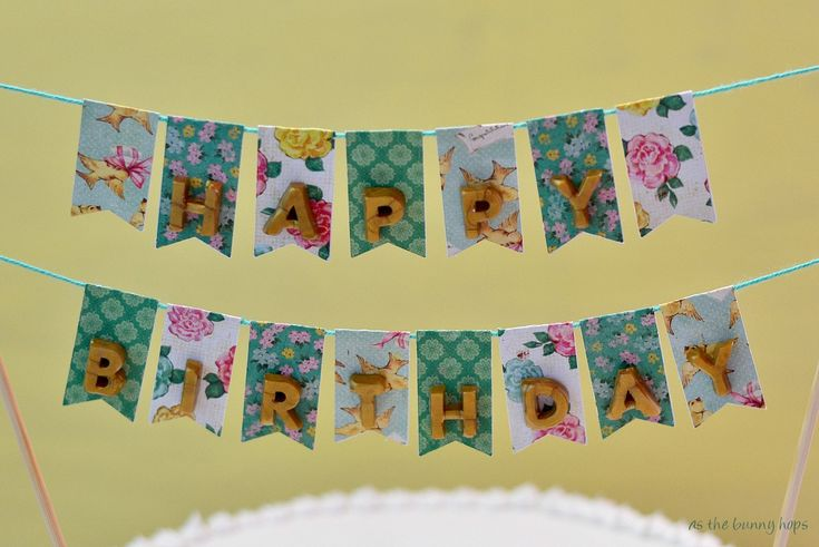 {Tutorial} Everlasting Cake with Bunting - Made with Mod Melts and Collage Clay