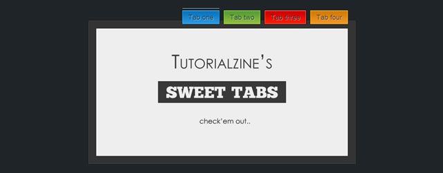 30 CSS and Javascript Tabs Plugins and Tutorials