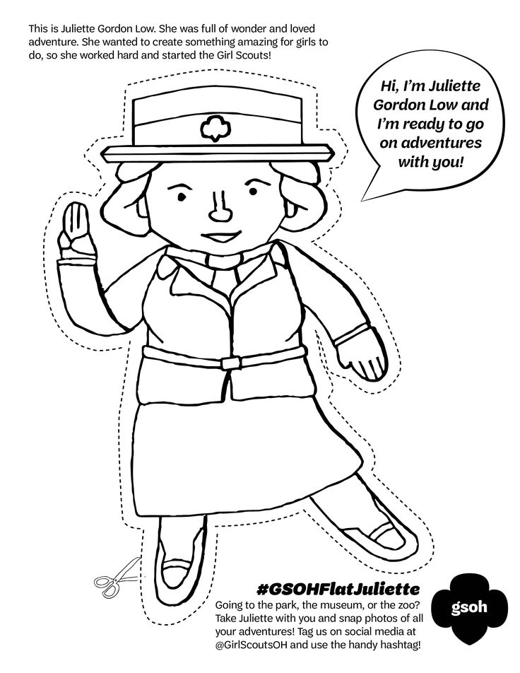 junior girl scout coloring pages - photo#19