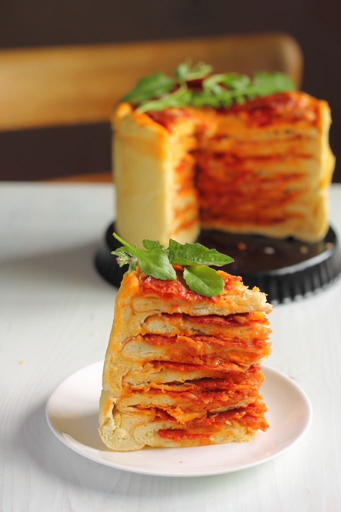 The Pizza Cake Recipe: You Will Never Look at Pizza the Same Way Again » So Good Blog - I am totally making this the next time we need to celebrate something.