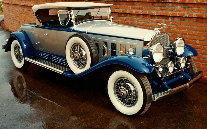Download Hintergrund Cadillac V016, Oldtimer, Autos aus den 1930er Jahren, Retro-Autos, alte …   – Klassische Autos