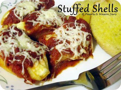 Pearls & Mason Jars: Stuffed Shells - Meatless Meal