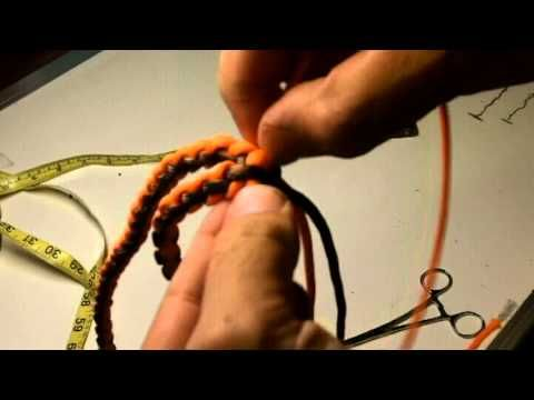 Rock Paracord - How to Make a Duck Call Lanyard - YouTube...USES a Round 4 strand braid.