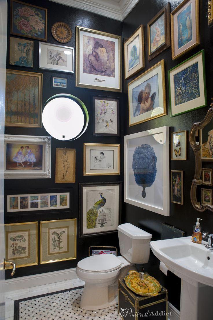 25 Art Gallery Bathroom Von Langweilig Bis Schon Interior Design Bad Inspiration Badezimmer Schwarz Badezimmer Dekor