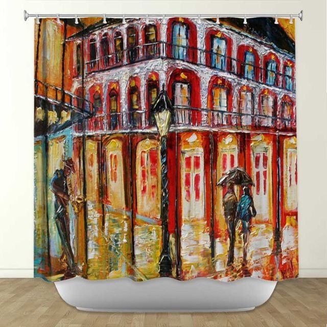 New Orleans French Quarter Shower Curtain contemporary shower curtains