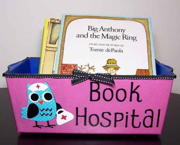 "Turn a tub into a ""book hospital."""