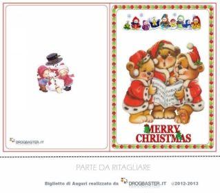 bigliettino Merry Christmas