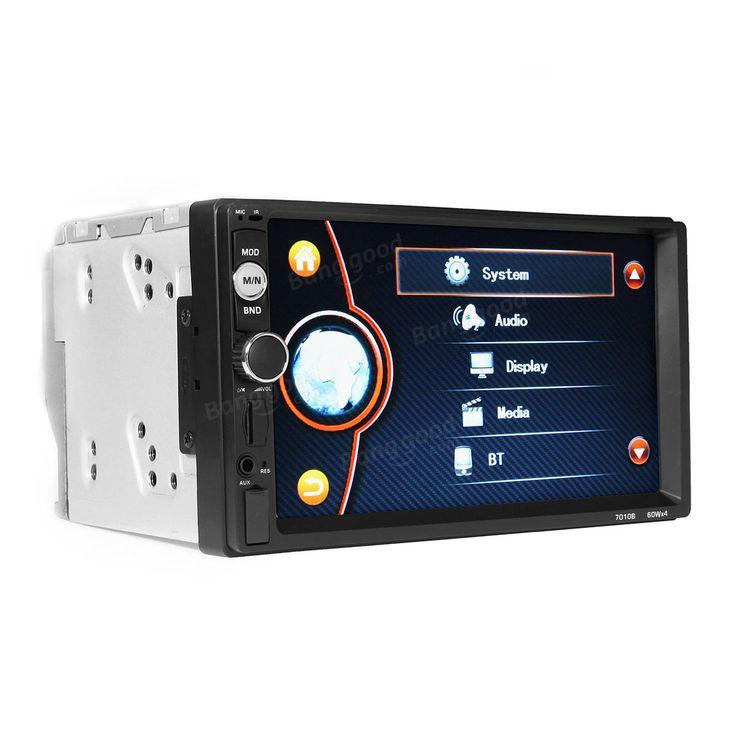 2 DIN 7 Inch Car Player MP5 FM Radio Bluetooth Rear Camera USB TF Aux RC Touchscreen Sale - Banggood.com