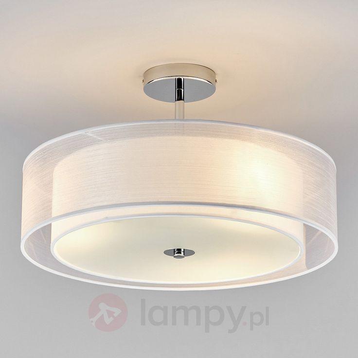 Lampa sufitowa LED PIKKA z białym abażurem 9620169