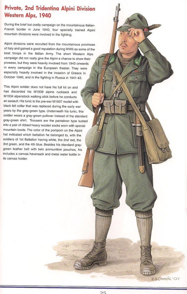 "Regio Esercito - Soldato semplice, Divisione Alpina ""Tridentina"". 1940 Regio Esercito"
