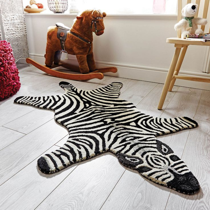 Flair Kiddy Play Zoe Zebra Rug in White  Next Day Delivery Flair Kiddy  Play Zoe Zebra Rug in White from WorldStores: Everything For The Home