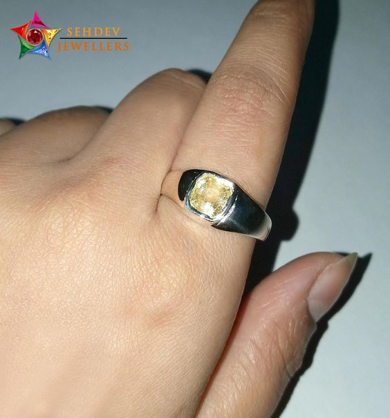 Shop for Yellow Sapphire Pukhraj ring for astrological