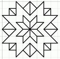 free blackwork stars fill pattern