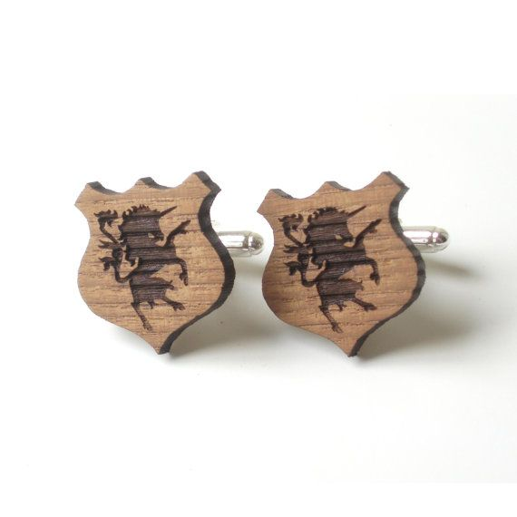 Unicorn cufflinks for heraldry symbols lovers di DARQCREATIONS