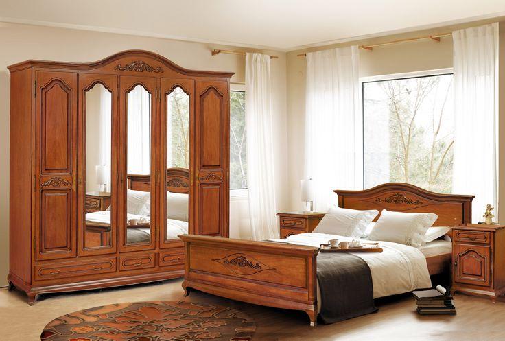 Mobila / Mobilier Dormitor clasic lemn Anca Ana nuc/stejar | RON0.00 | #mobilena.ro