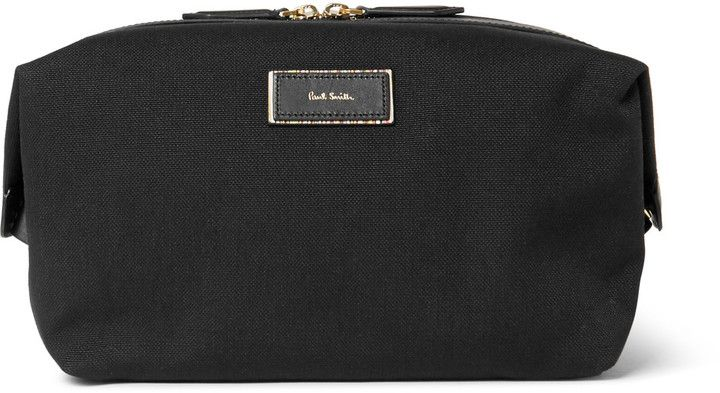 Paul Smith - Leather-Trimmed Canvas Wash Bag