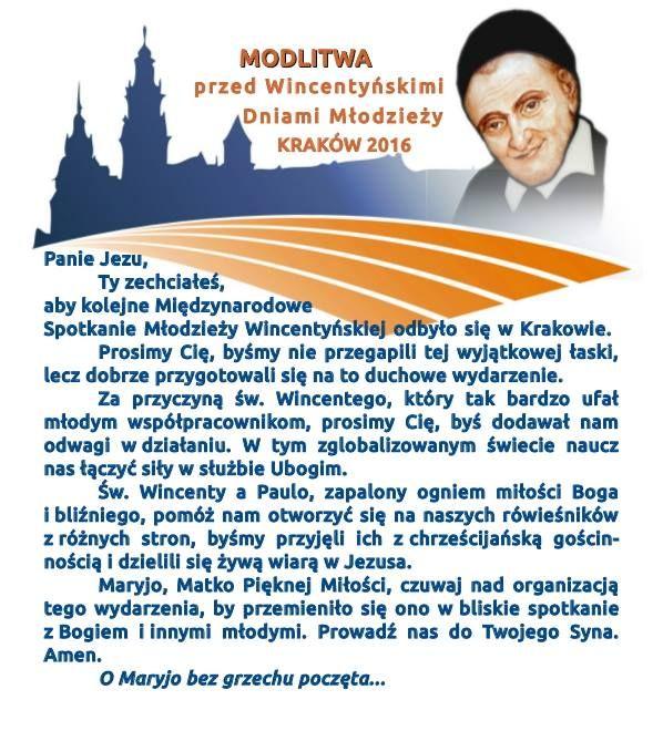 [POL] Modlitwa przed Wincentynskimi Dniami Młodych w Krakowie w 2016 #WDM2016 #ŚDM2016