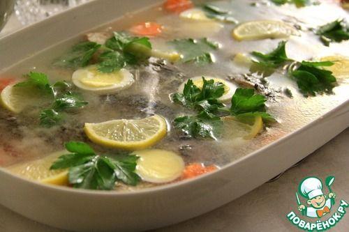 Бабушкина заливная рыба - кулинарный рецепт