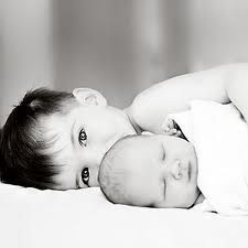 sibling pose,  cute for Abbie with the new baby.