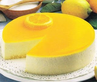 Tarta de limon sin horno (con gelatina) http://www.todareceta.es/click/index/867650/?site=cocinarecetas.info