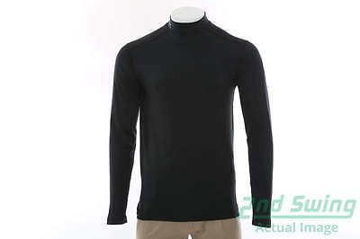 New Mens Under Armour 2016 Ryder Cup Long Sleeve Mock Neck Small Black MSRP $56
