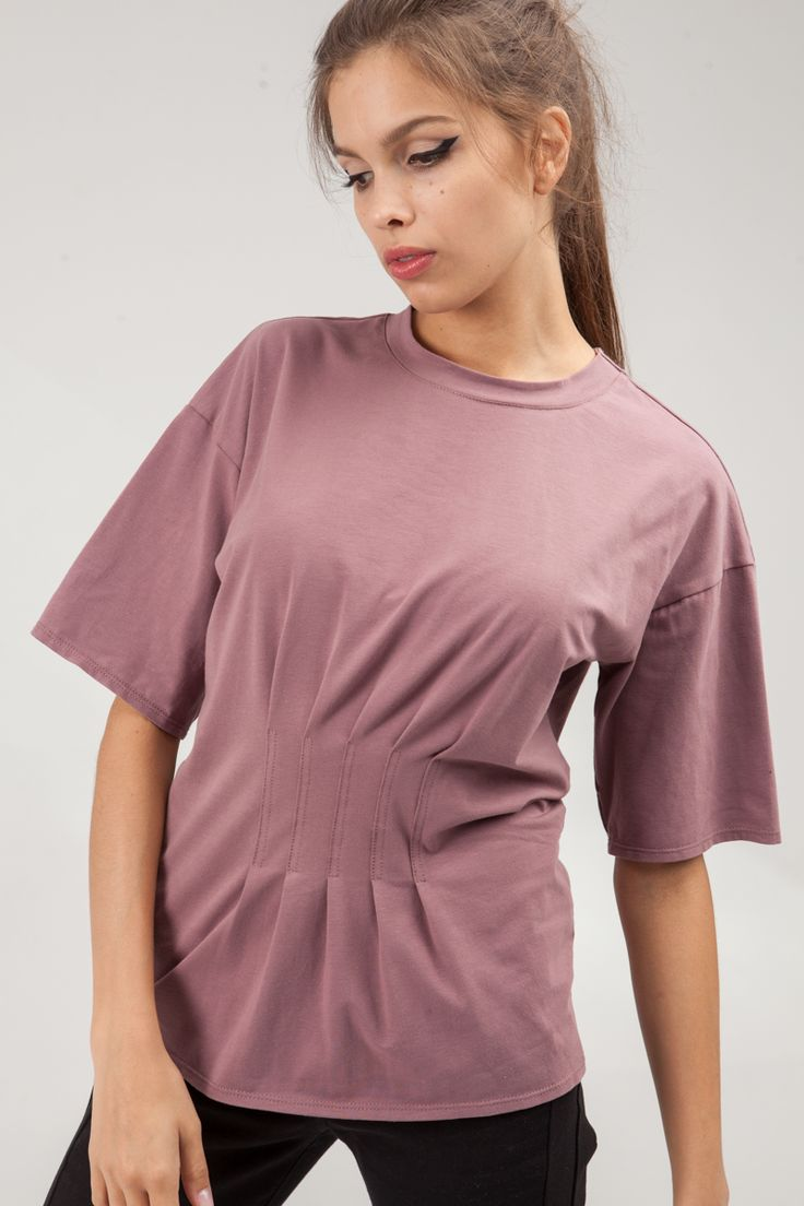 Slim fitted T-shirt with a narrow neckband and pintucks on the front and on the back. Loose sleeves to the elbow. #mariashi #fashion #newcollection #nofilter #outfit #outfitoftheday #outfits #outfitpost #clothes #fashionista #fashiondesigner #shopping