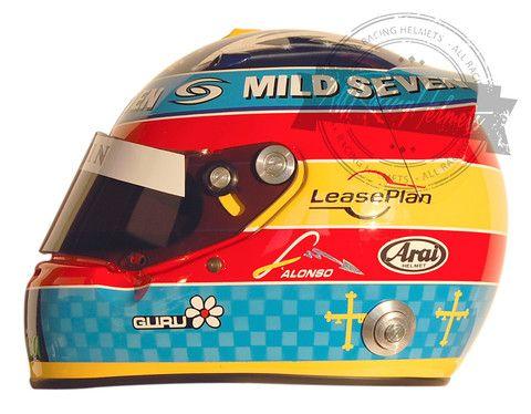 Fernando Alonso 2005 F1 Replica Helmet Scale 1:1
