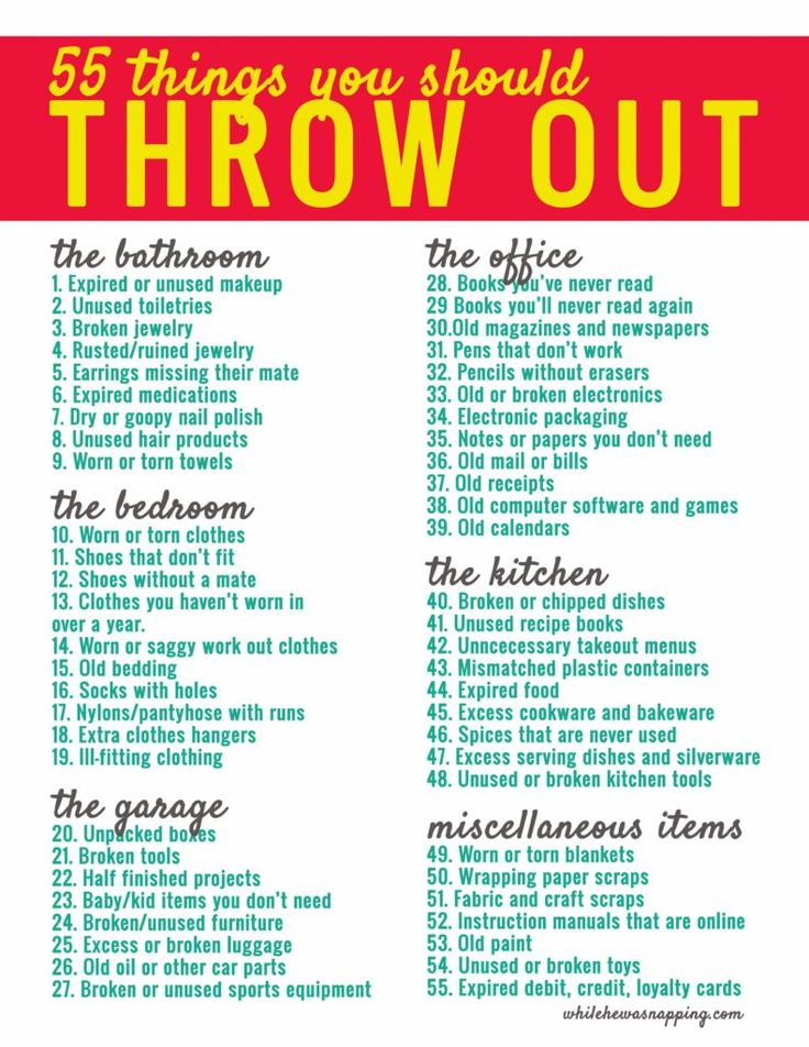 55 Things You Should Throw Out Download Organizing In