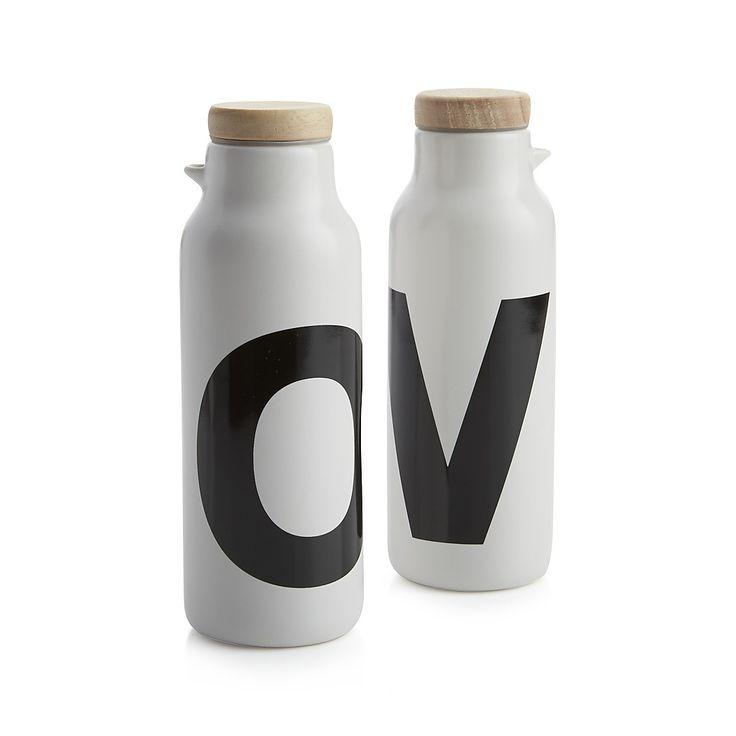 Loft Oil and Vinegar Bottle Set | Crate and Barrel